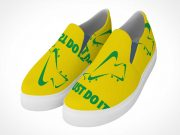 Slip-on Pair of Penny-loafer Shoes PSD Mockups
