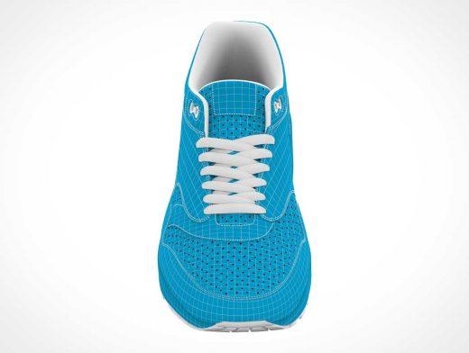 Sports Running Shoe Front Branding PSD Mockup