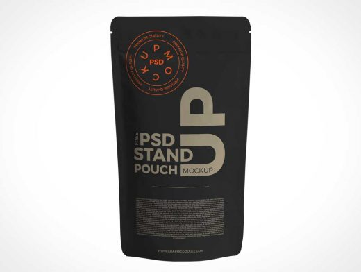 Ziplock Foil Pouch Packet Front Cover PSD Mockup