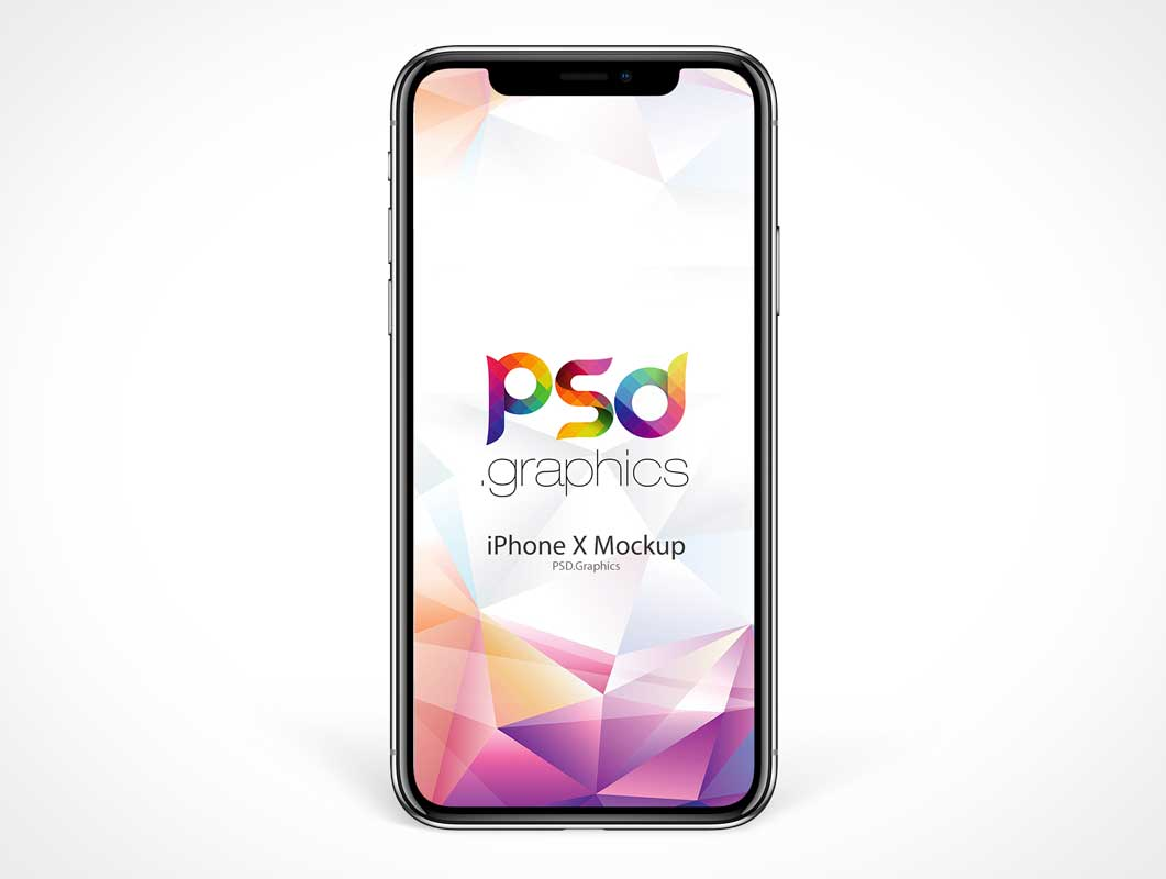 iPhone X Front OLED Screen PSD Mockup