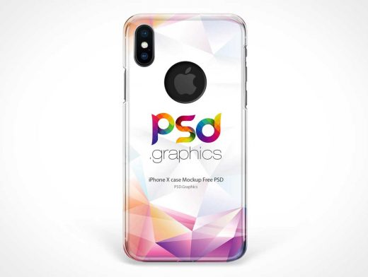iPhone X Protective Shell Case Back PSD Mockup