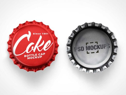 21 Tooth Crown Cork Bottle Cap PSD Mockup