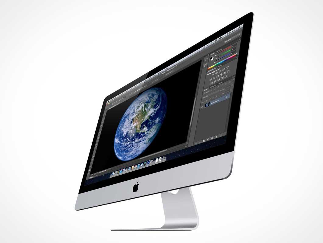27 Inch iMac & Retina Display PSD Mockup