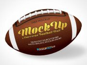 American Football Pigskin Ball PSD Mockup