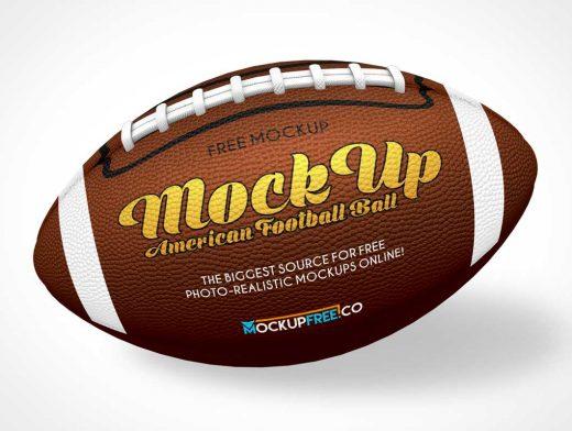 American Football Pigskin Ball PSD Mockup