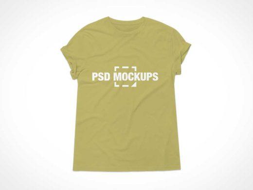 Cap Sleeve T-Shirt Front PSD Mockup