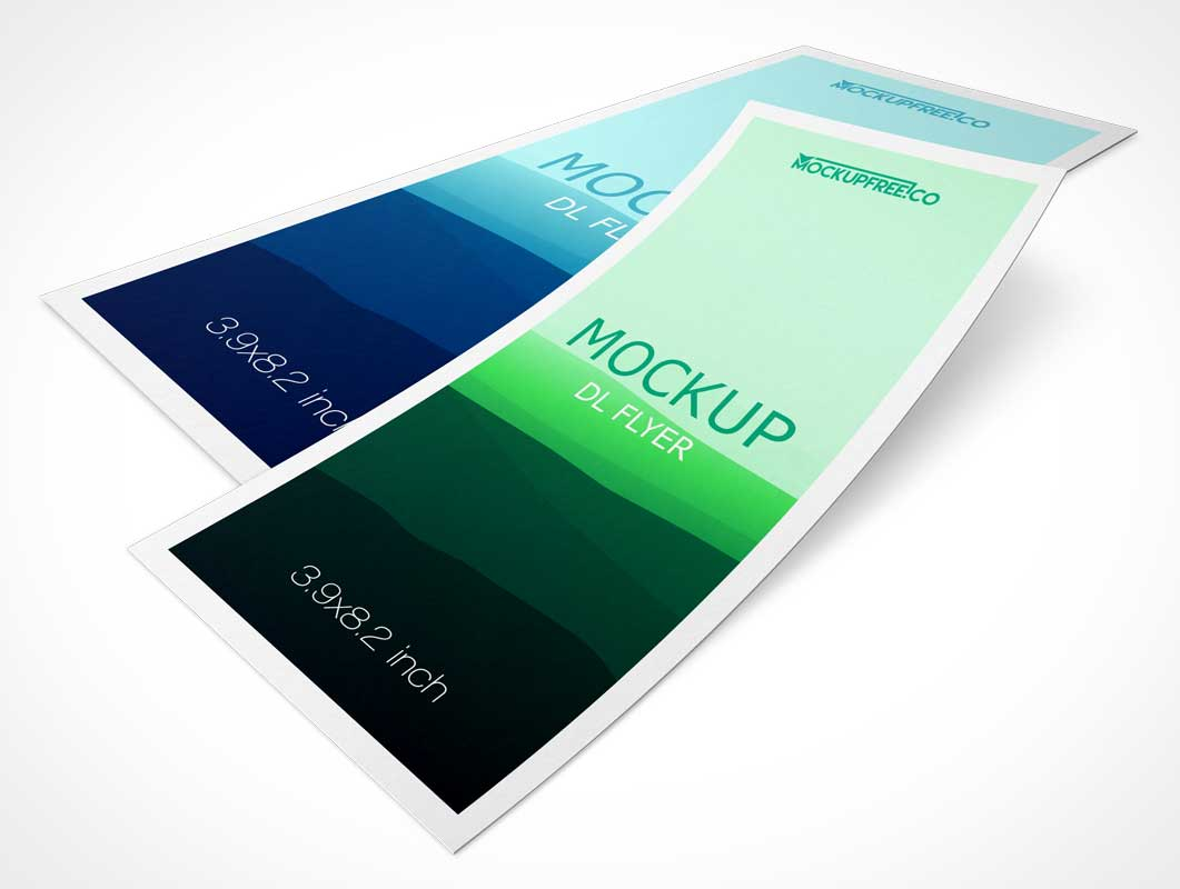 DL Single Panel Flyer PSD Mockups