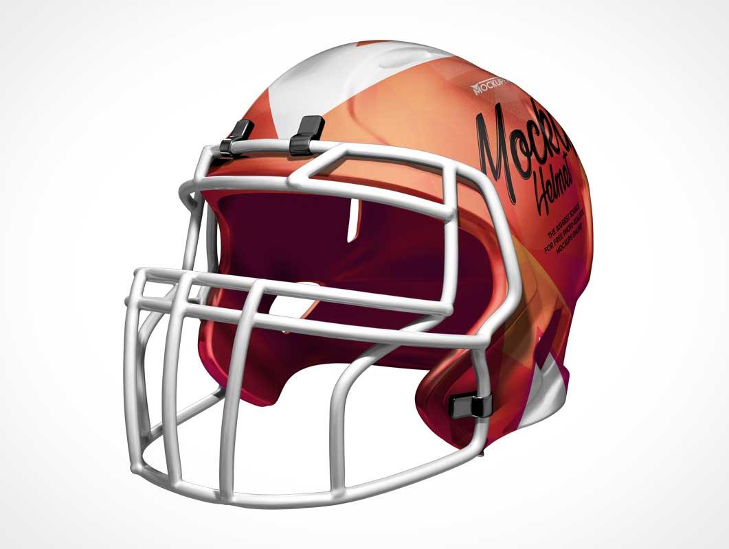 Football Helmet Headgear & Protective Grill PSD Mockup