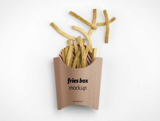 French Fries Branding Packaging PSD Mockup