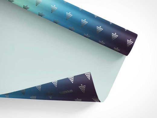 Gift Wrapping Paper Roll PSD Mockup