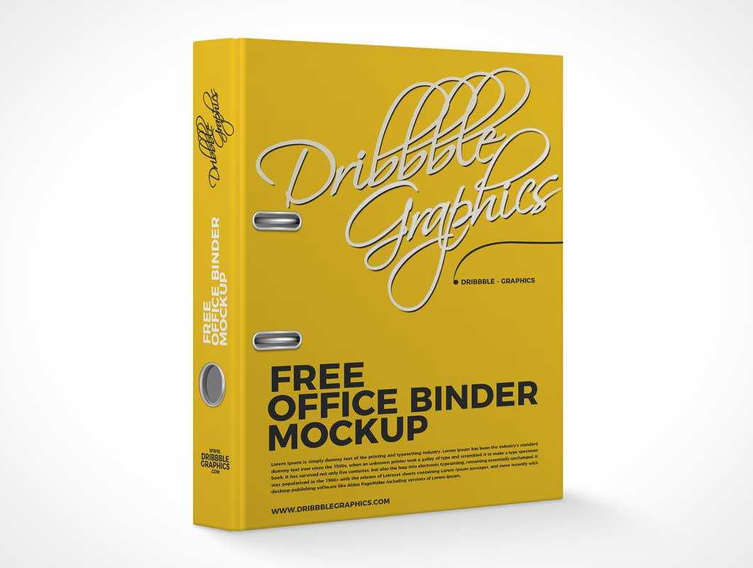 Hardcover Office Stationery Binder PSD Mockup