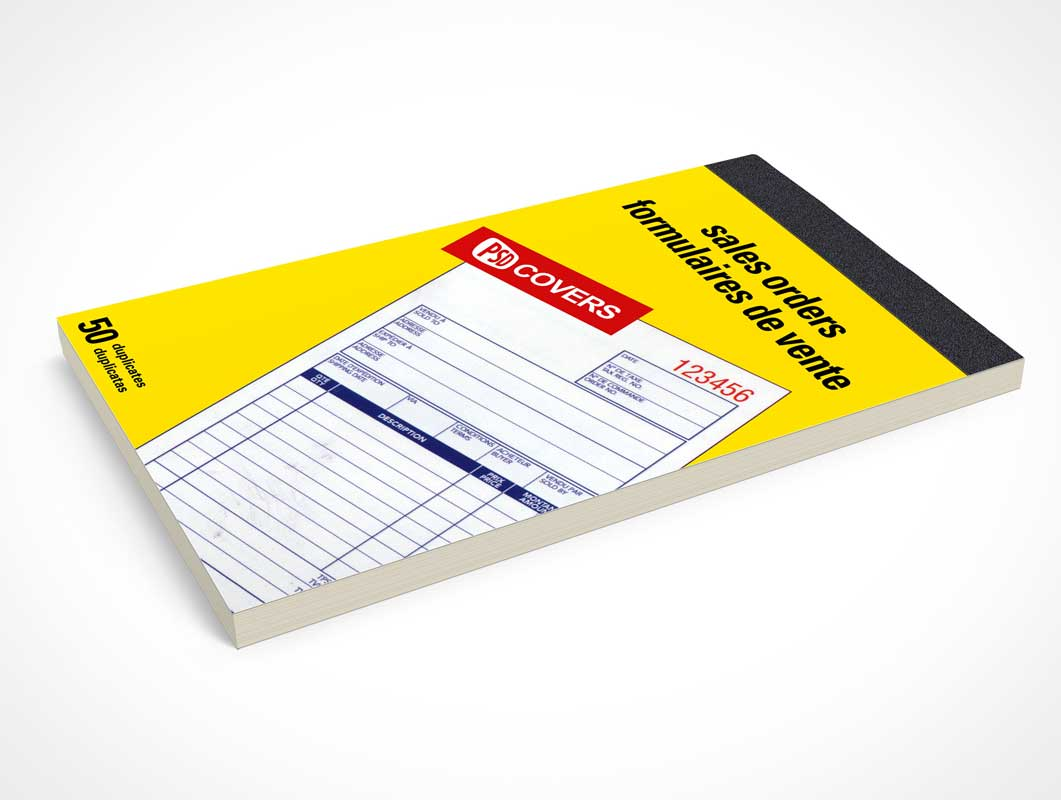 Notepad Receipt Booklet Cover PSD Mockup