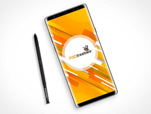 Samsung Galaxy Note 8 Android Smartphone PSD Mockup