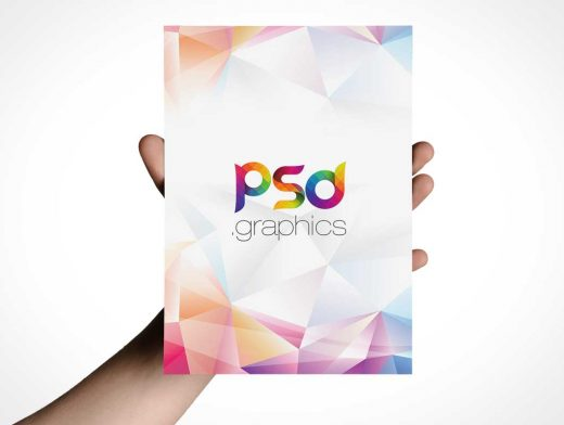 Single Panel A5 Flyer In Hand PSD Mockup
