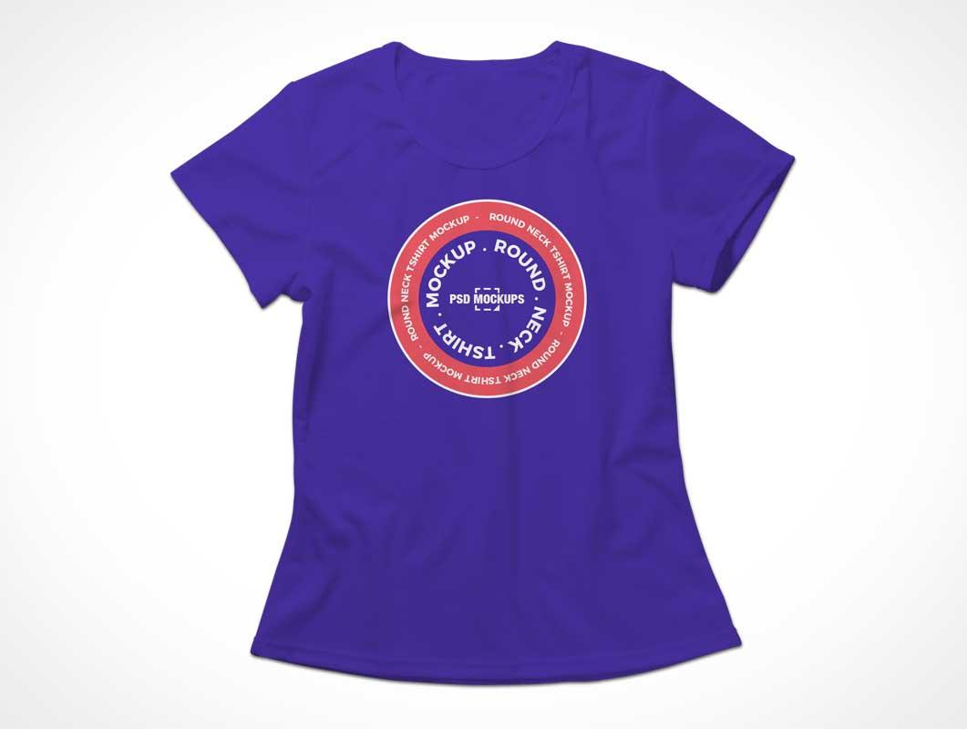 Sleeveless Cotton Fabric T-Shirt Front PSD Mockup