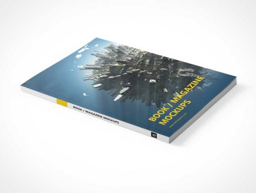 Softcover Magazine Front Cover & Inside Pages PSD Mockup