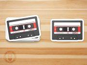 Stack & Individual Peel Sticker PSD Mockup