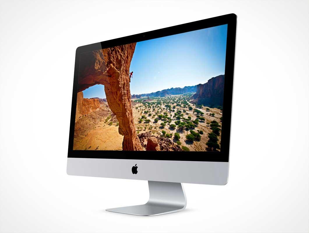 27 Inch Retina Display iMac PSD Mockup