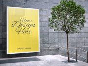 Backlit Billboard Poster Advertising PSD Mockup