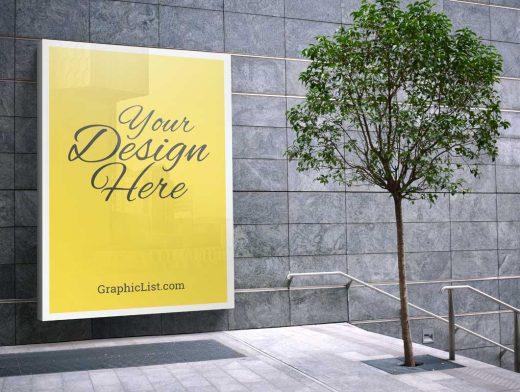 Backlit Billboard Poster Advertising PSD Mockup