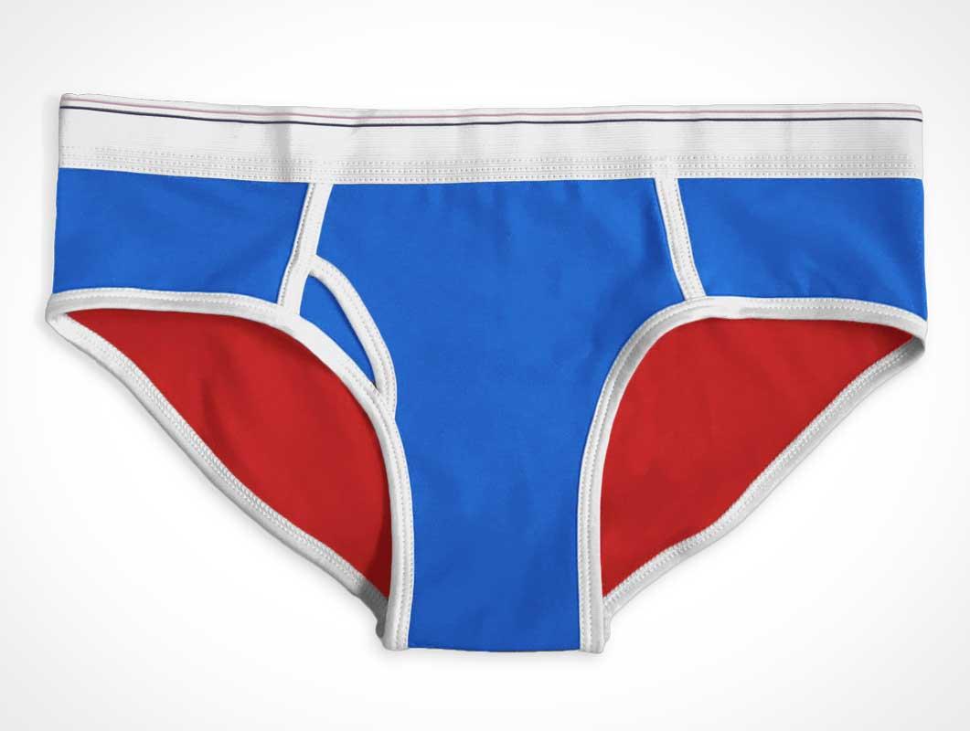 Briefs Underwear Garment Front & Waistband PSD Mockup