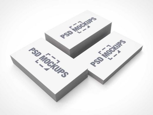 Corporate Business Card Stacks PSD Mockup
