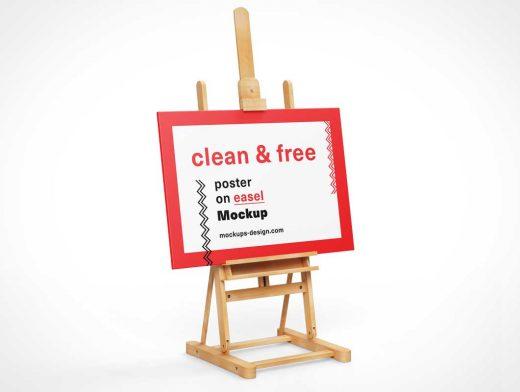 Painter's Easel Stand, Portrait & Landscape Modes PSD Mockup