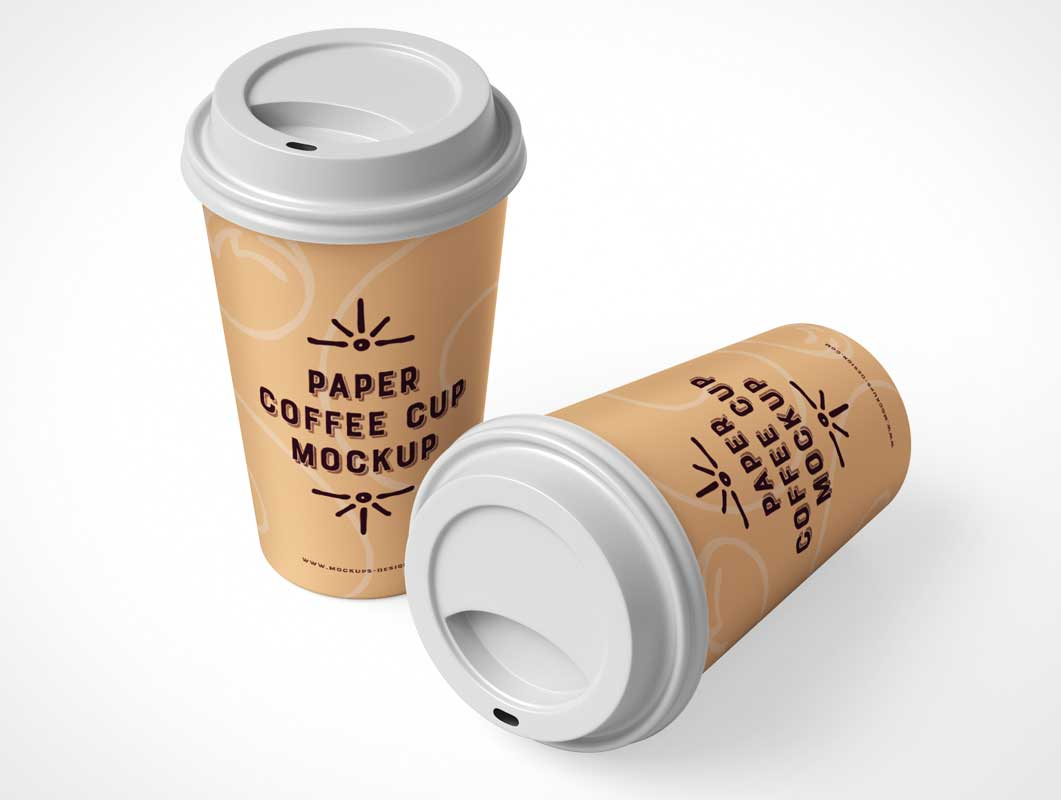 Plastic Lid Paper Rim Cup PSD Mockup