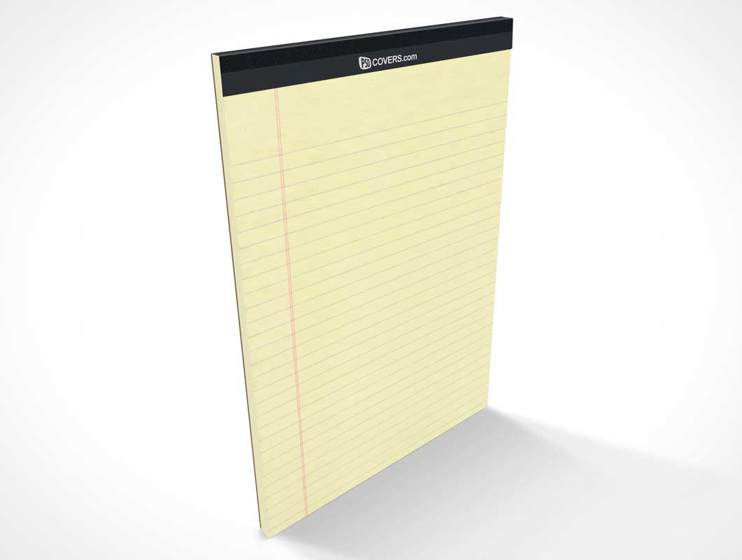 Standing Stationery Pad Front Cover PSD Mockup