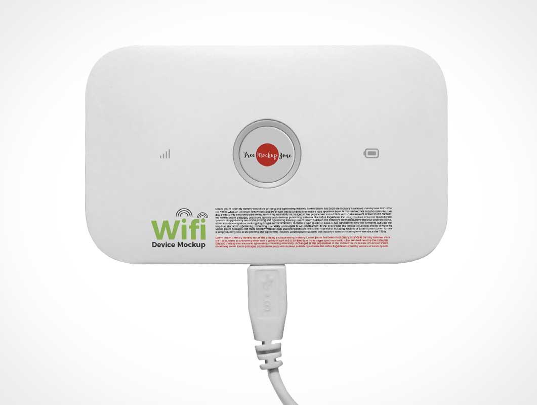 USB WIFI Network Hub PSD Mockup