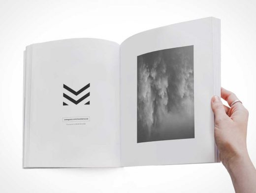 C-Format Softcover Publication Book PSD Mockup