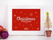 Decorative Holiday Picture Frame PSD Mockup