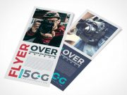 Flyer Panels Front & Back PSD Mockup