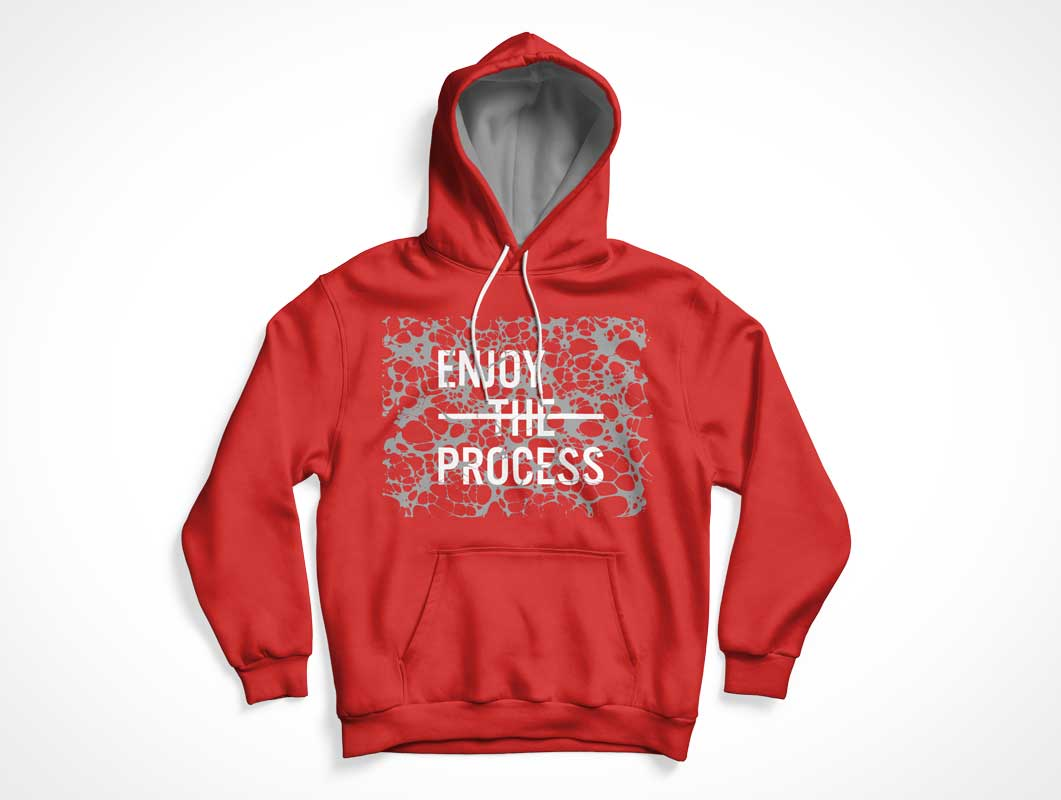 Hoodie Cotton Sweater Front & Back PSD Mockup