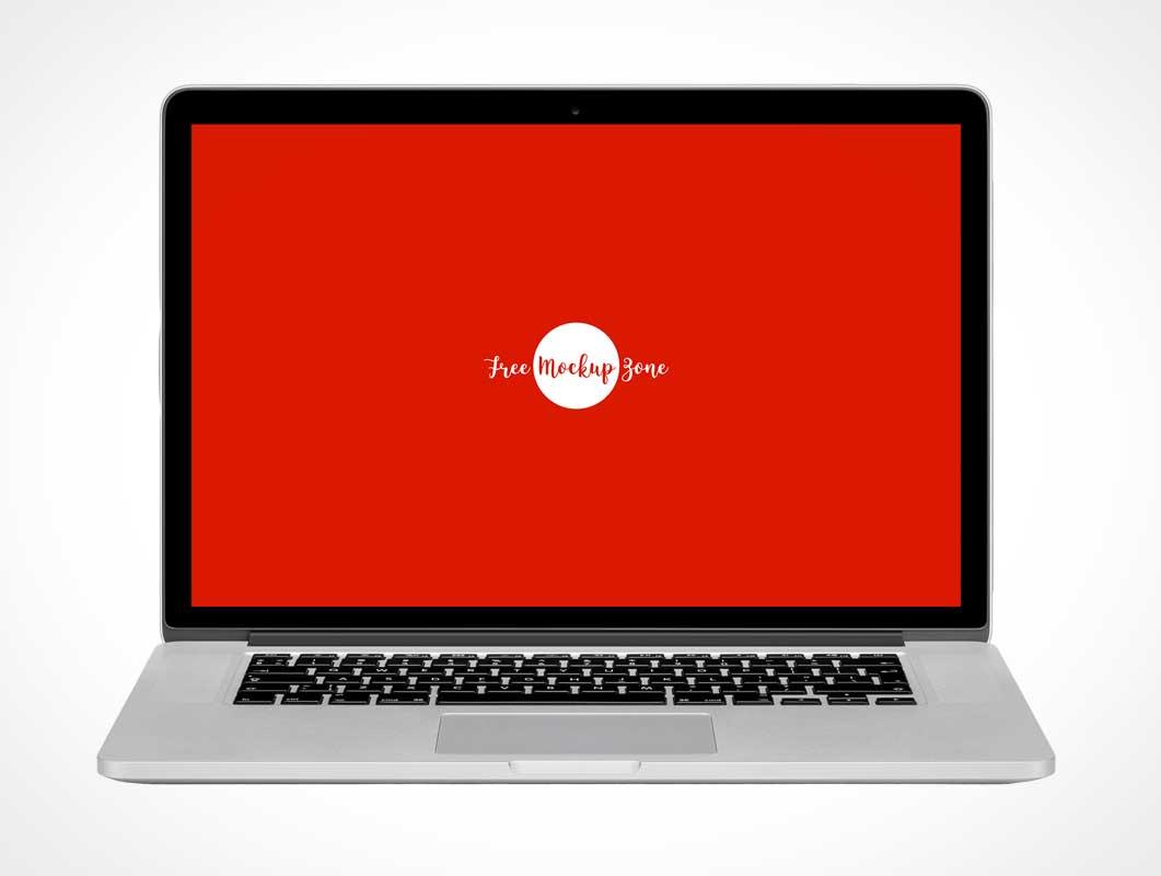 MacBook Mobile Laptop Display Front PSD Mockup