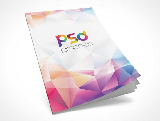 Magazine Front Cover & Pages Partially Open PSD Mockup