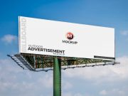 Outdoor Billboard Advertising Sign PSD Mockup