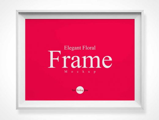 Photo Frame & Bevelled Inset Border PSD Mockup