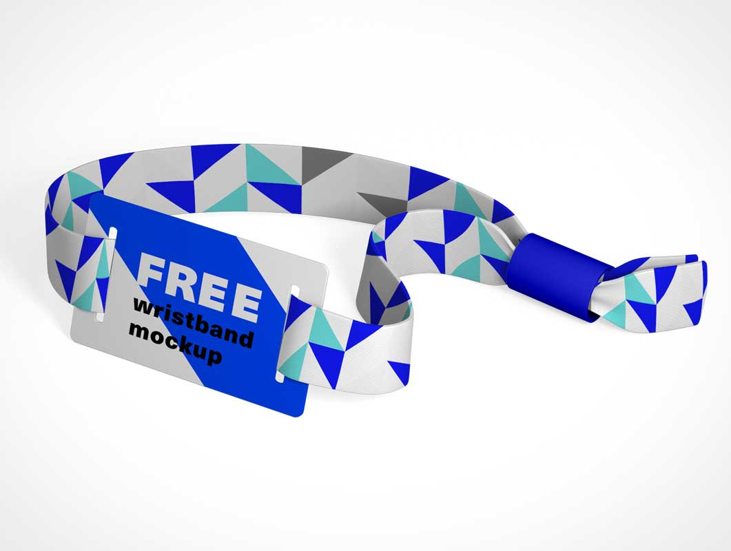 RFID Wrist Band Event Pass PSD Mockup