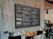 Restaurant Chalkboard Menu PSD Mockup