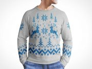 Ugly Christmas Sweater Front PSD Mockup