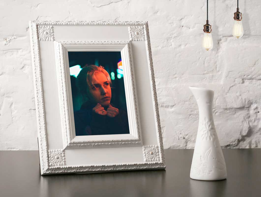 Victorian Portrait Photo Frame PSD Mockup