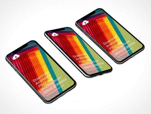 8 4K Resolution iPhone X PSD Mockups