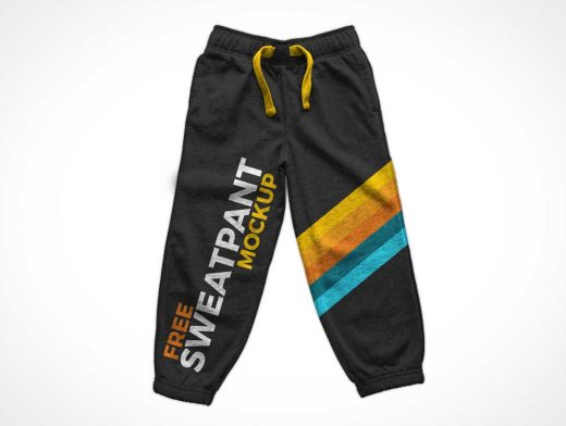 Athletic Sweatpants & Stretchable Waistband PSD Mockup