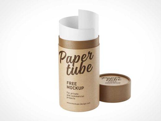 Cardboard Shipping Tube Mailer PSD Mockup
