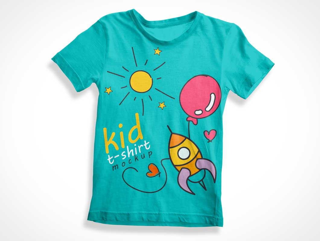 Child's Sleeveless Cotton T-Shirt Front PSD Mockup
