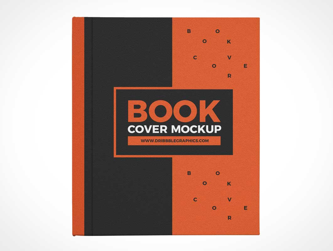 Closed Hardback Front Book Cover PSD Mockup