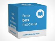 Closed Square Gift Box Display Packaging PSD Mockup