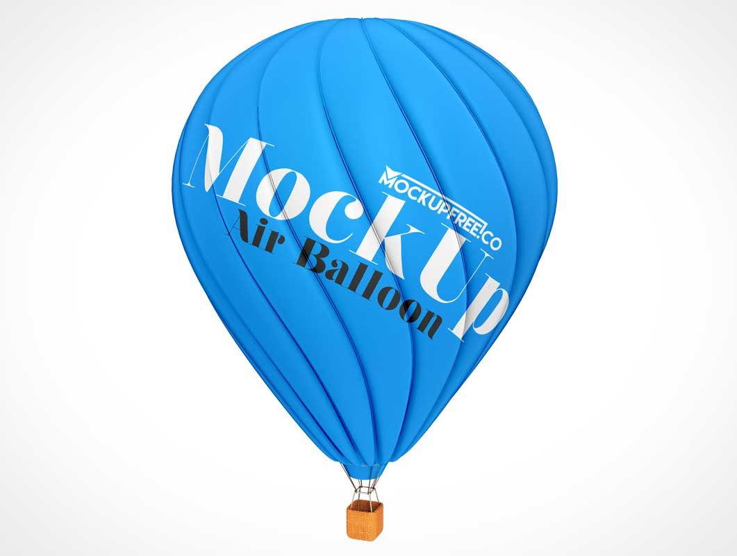 Hot Air Ballon & Basket Advertising PSD Mockup