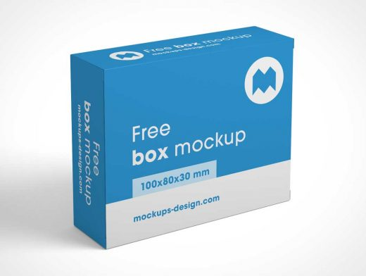 Multiple Views of Small Box Packaging PSD Mockup